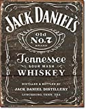 1 X Jack Daniel's - Weathered Logo Metal Tin Sign