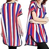 (ポイズンアップル) POISON APPLE チュニック Tシャツ ワンピ レディース ロングT 半袖 スラブ 調 アシメ 大きいサイズ 0121 トリコロール