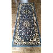 Deir Debwan Traditional Persian Runner 330,000 Point Oriental Area Rug Light Blue Design 603 (2 Feet X 7 Feet 2 Inch)