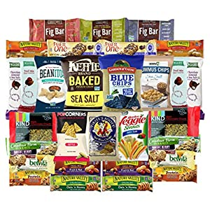 Premium Chips, Bars & Snacks Healthy Care Package Variety Pack (30 Count) by Variety Fun