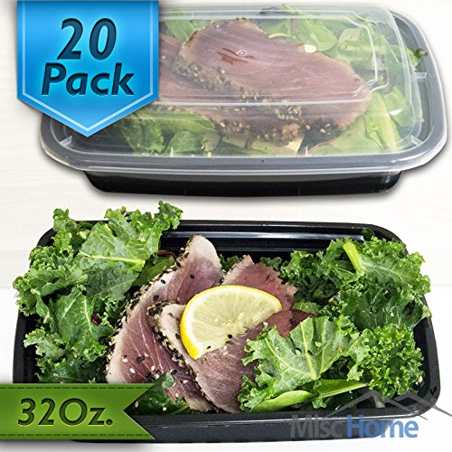 Misc Home 20 Pack BPA Fee Meal Prep Containers 32 Oz (Meal Prep Containers Bpa compare prices)