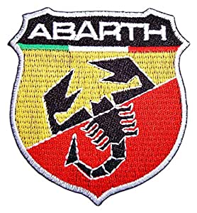 Amazon.com: FIAT ABARTH 500 Motors Cars Autos Racing Sign Patch Sew