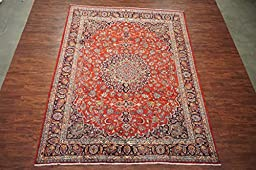10X13 Antique Persian Mashad Hand-Knotted 1940\'s Area Rug Carpet Wool