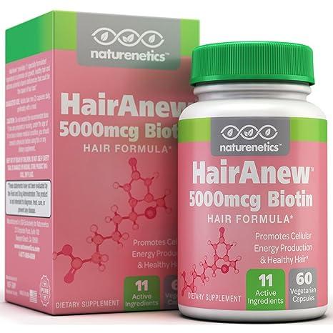 Biotin Hair Growth Vitamins - 11 Powerful Ingredients Including 5000mcg Biotin - 3rd Party Tested & Certified - Addresses Potential Vitamin Deficiencies