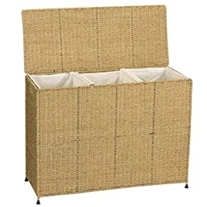 Amazon Com Household Essentials Woven Seagrass Triple
