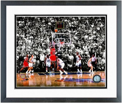 "Michael Jordan Chicago Bulls 1998 NBA Finals Winning Shot Photo 12.5"" x 15.5"" Framed at Amazon.com"
