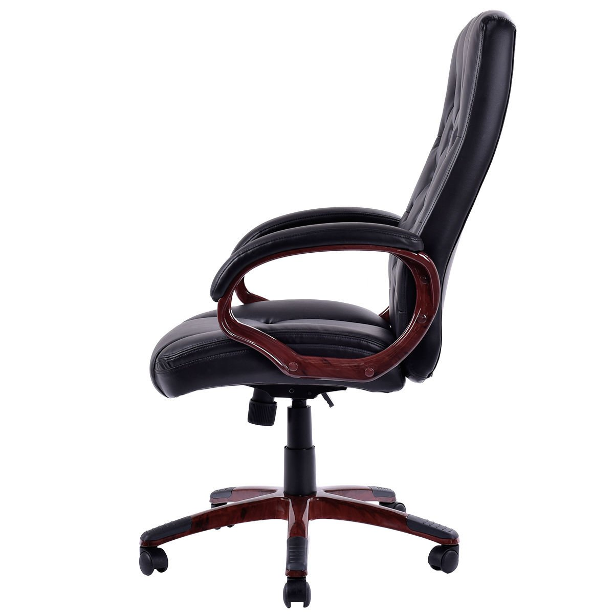 Giantex Ergonomic High Back Traditional Tufted Swivel Office Executive Chair, Black 2