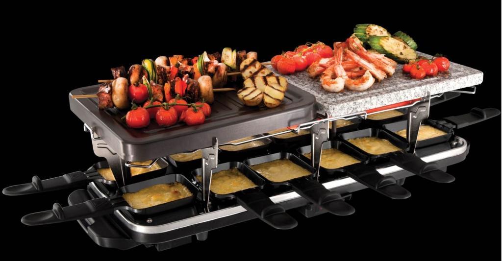 Russell hobbs 19560 56 raclette grill pierrade for Cuisine xxl et ses accessoires lidl