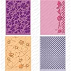 Provo Craft Cuttlebug Cricut Companion Embossing Folder Bundle, Simply Charmed