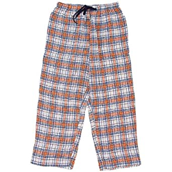Orange and Navy Plaid Flannel Pajama Pants for Women 2X
