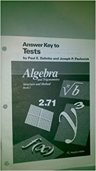 mcdougal littell answer key to tests algebra and trigonometry stucture and method book 2. Black Bedroom Furniture Sets. Home Design Ideas