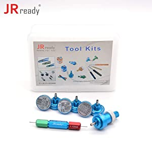 JRready ST5121 Positioner Kit: K40+K41+K42+K43+K709+K13-1+SK2/2+G125 positioner kit K series positioners used for locating terminals for YJQ-W1A four-indent crimper (Color: Blue)