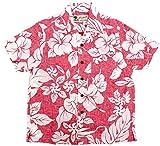 (マルカワジーンズパワージーンズバリュー) Marukawa JEANS POWER JEANS VALUE アロハシャツ キッズ 半袖 シャツ ハイビスカス 5color 150 レッド