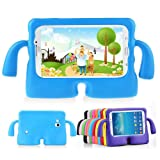 Lioeo Samsung Galaxy Tab 3/3 Lite 7.0 Case for Kids Rubber Shock Proof Protective Case Cover with Carry Handle for Samsung Galaxy Tab 3/3 Lite Tablet 7 inch Screen? (Color: blue, Tamaño: 7.0 inch)