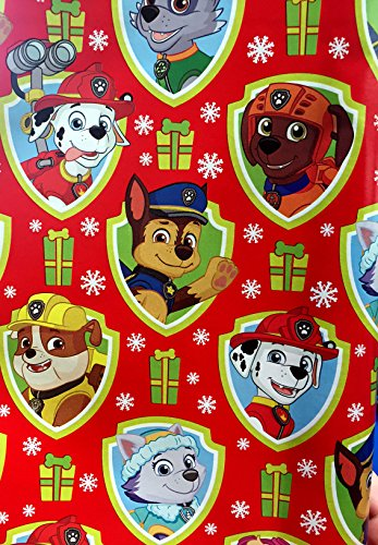 Red Paw Patrol Christmas Gift Wrapping Paper 70 sq ft Roll