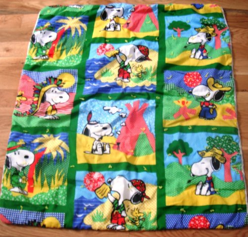 Peanuts Snoopy Quilted Baby Or Child'S Blanket Or Coverlet front-429157