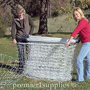 Premier PoultryNet Electric Fence, 48 H x 164' L, Double Spiked, White