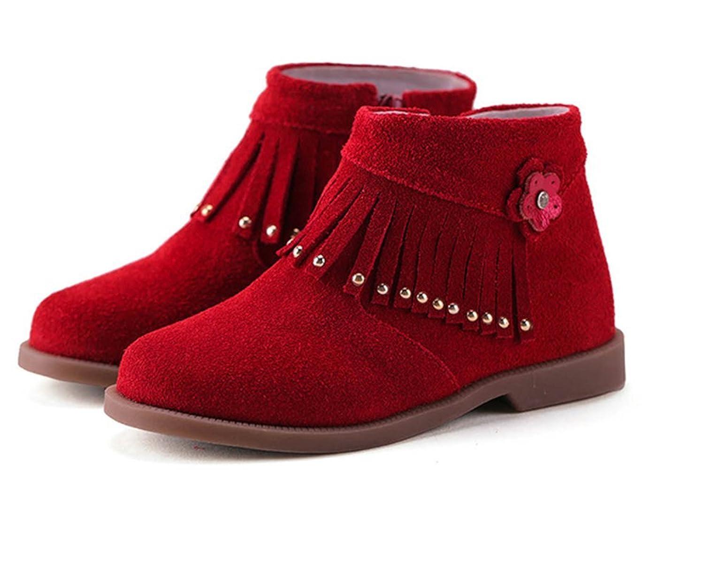 Fashion Quaste Echtes Leder Herbst Stiefel boots Kinder-Schneeschuhe Jungen Stiefel Mädchen stiefel Kinder Schuhe