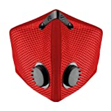 M2 Mesh Dust/Pollution Mask for Air Filtration by RZ Mask w/2 Filters - Red - Medium (Color: Red, Tamaño: Medium)