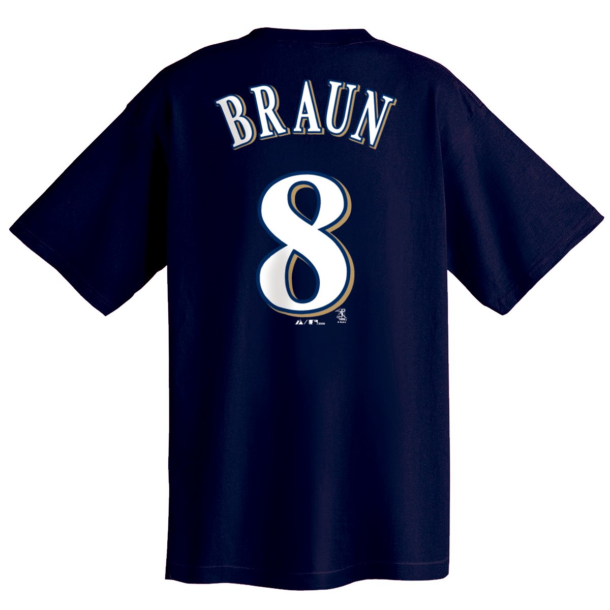 milwaukee brewers ryan braun navy majestic player t shirt. Black Bedroom Furniture Sets. Home Design Ideas