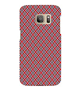 ifasho Designer Phone Back Case Cover Samsung Galaxy S7 Edge :: Samsung Galaxy S7 Edge Duos :: Samsung Galaxy S7 Edge G935F G935 G935Fd ( Colorful Pattern Design Black Yellow Purple )