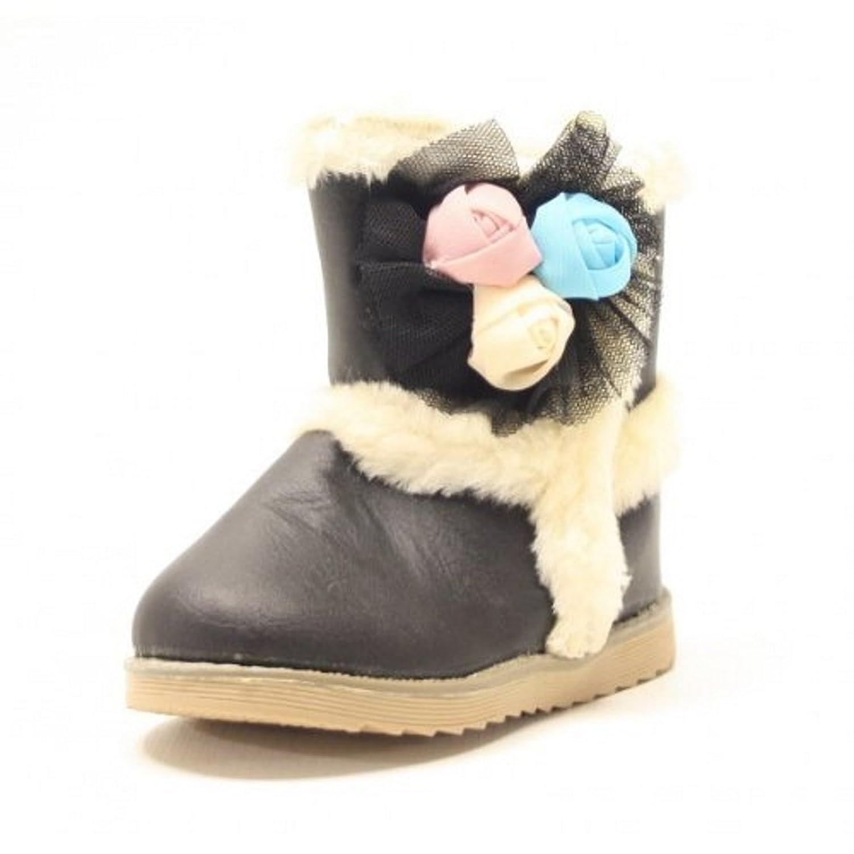Snowboots KIDS Farbe Schwarz mit Klettverschluss gefüttert Farbe Schwarz, Schuhgröße 24
