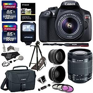 Canon EOS Rebel T6 Digital SLR Camera Kit (New Model for T5), EF-S 18-55mm f/3.5-5.6 IS II Lens, 50