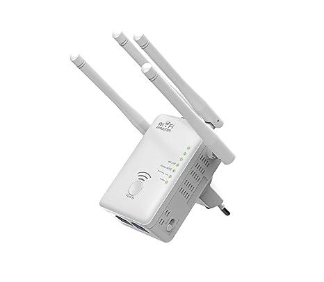Supremery - AC1200 Dual Band WLAN Repeater (répéteur, point d'accès, routeur   port LAN, 4x Wifi antenne WPS) 433 Mbit AC sans fil s