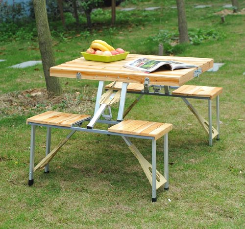 ... Picnic Table with 4 Seats - NewCoffeeTables.com NewCoffeeTables.com