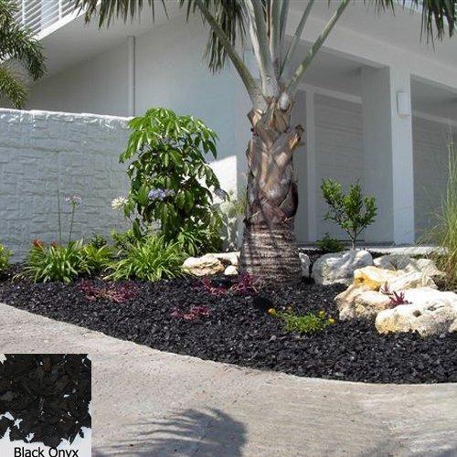 YARDWISE Landscape Rubber Mulch Pallet-Black Onyx Color