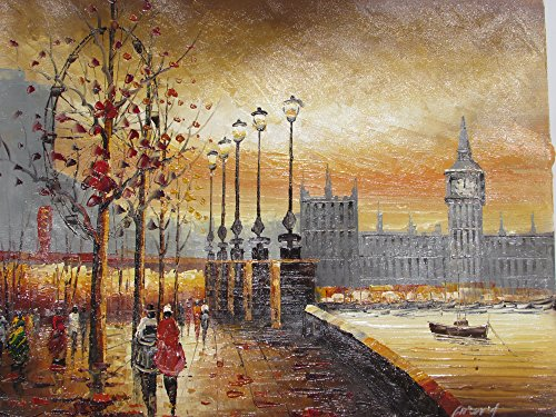 beautiful-oil-painting-on-canvas-romantic-london-20x24