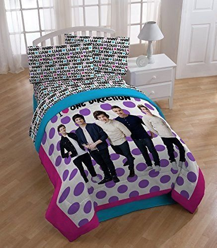 New Global Entertainment One Direction Dots Twin Size Sheets Set (Comforter One Direction compare prices)