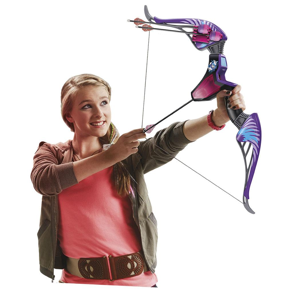 nerf rebelle agent bow blaster with purple arrows ebay. Black Bedroom Furniture Sets. Home Design Ideas