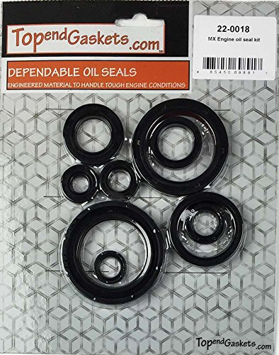 NEW 10pc Engine Oil Seal Kit - Fits Honda CRF450X 2005-2009, 2012-2016 (Honda Crf 450 Crankshaft compare prices)