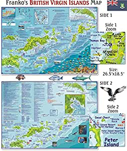 British Virgin Islands Map for Scuba Divers and Snorkelers