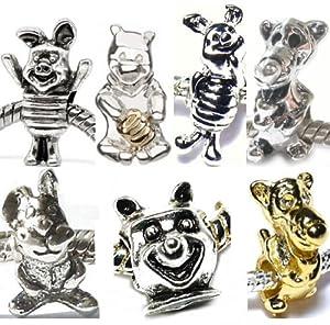 charm buddy set of 7 winnie the pooh charms fits