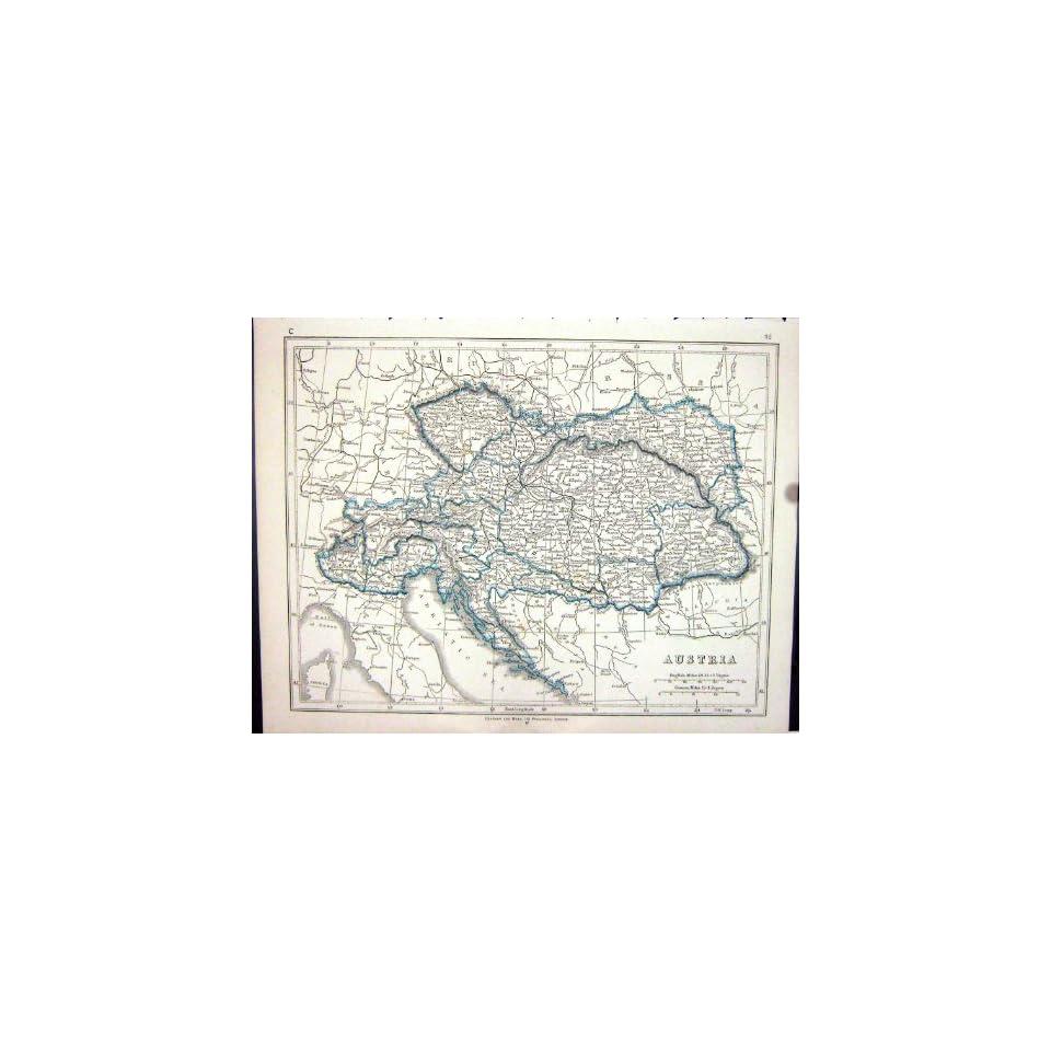 Lowry Antique Map 1853 Austria Vienna Bohemia Tyrol Adriatic Sea