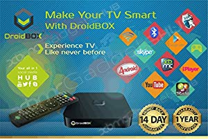DroidBOX® iMX6Q Android TV Box with remote - Free Movies & TV with fully Loaded XBMC AirPlay UPnP DLNA IPTV Mini Web Streaming HTPC Player, QuadCore Amlogic S805 SoC Cortex A9 1Gb Ram, 8GB Internal Memory, WiFi, 100mbps LAN, 1080P 3D, Mali400 High Performance 3D GPU, Navi-X, 1Channel, Mashup, IceFilms, Airmouse supported, UK adapter included, Internet Streaming Player, Jailbroken Droibox, AppleTV, Boxee Box, Google TV, Roku 2 XS, Chromecast, Miracast, Wifi Display, G-Box, DroidPlayer