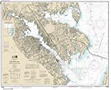 NOAA Chart 12282: Chesapeake Bay Severn and Magothy Rivers, 33.2 X 40.8, TRADITIONAL PAPER