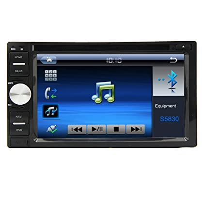 Accessoire En el tablero de coches Audio Bluetooth accesorio estšŠreo para musique en streaming DVD 6.2 pulgadas Double Din pantalla tš¢ctil vidšŠo radio de coche DVD CD USB SD Pantalla tš¢ctil AM FM de