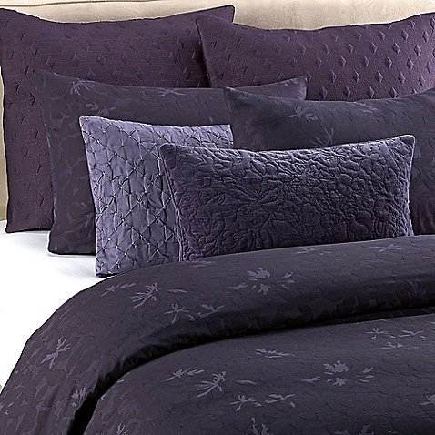 Vera Wang Violet King Duvet Cover Dark Purple front-529586