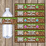 Party Supplies for Your Favorite Pixel Video Games (Water Bottle Labels)
