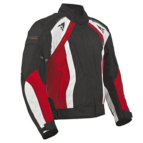 Roleff Racewear 2026 Blouson Moto Rhodes, Noir/Rouge, XXL