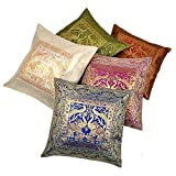 Ufc Mart Multi -Color Jacquard Cushion Cover 5 Pc. Set, Color: Multi-Color, #Ufc00457
