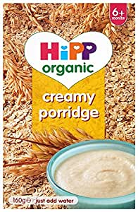 """HiPP Organic Stage 1"""" From 6 Months"""" Creamy Porridge 160 g (Pack of 4)"""