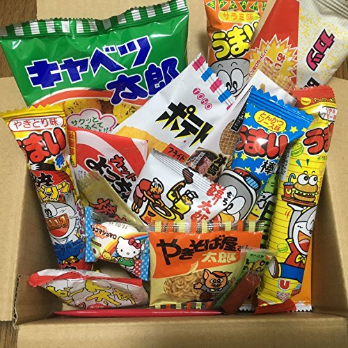 Dagashi Box Japanese Snacks 23pcs Umaibo Candy Gumi potato Chip Kitty chocolate