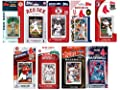 "MLB Boston Red Sox 10 Different Licensed Trading Card Team Sets, 4"" x 7"""