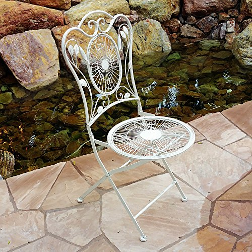 Modern Home Bordeaux Antiqued Iron 3pc Folding Bistro Set 2