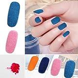 12 Colors/set Velvet Flocking Snow Powder Dust DIY Nail Art Manicure Decoration