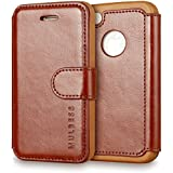 iPhone 4s Case Wallet,Mulbess [Layered Dandy][Vintage Series][Coffee Brown] - [Ultra Slim][Wallet Case] - Leather Flip Cover With Credit Card Slot for Apple iPhone 4s / iPhone 4